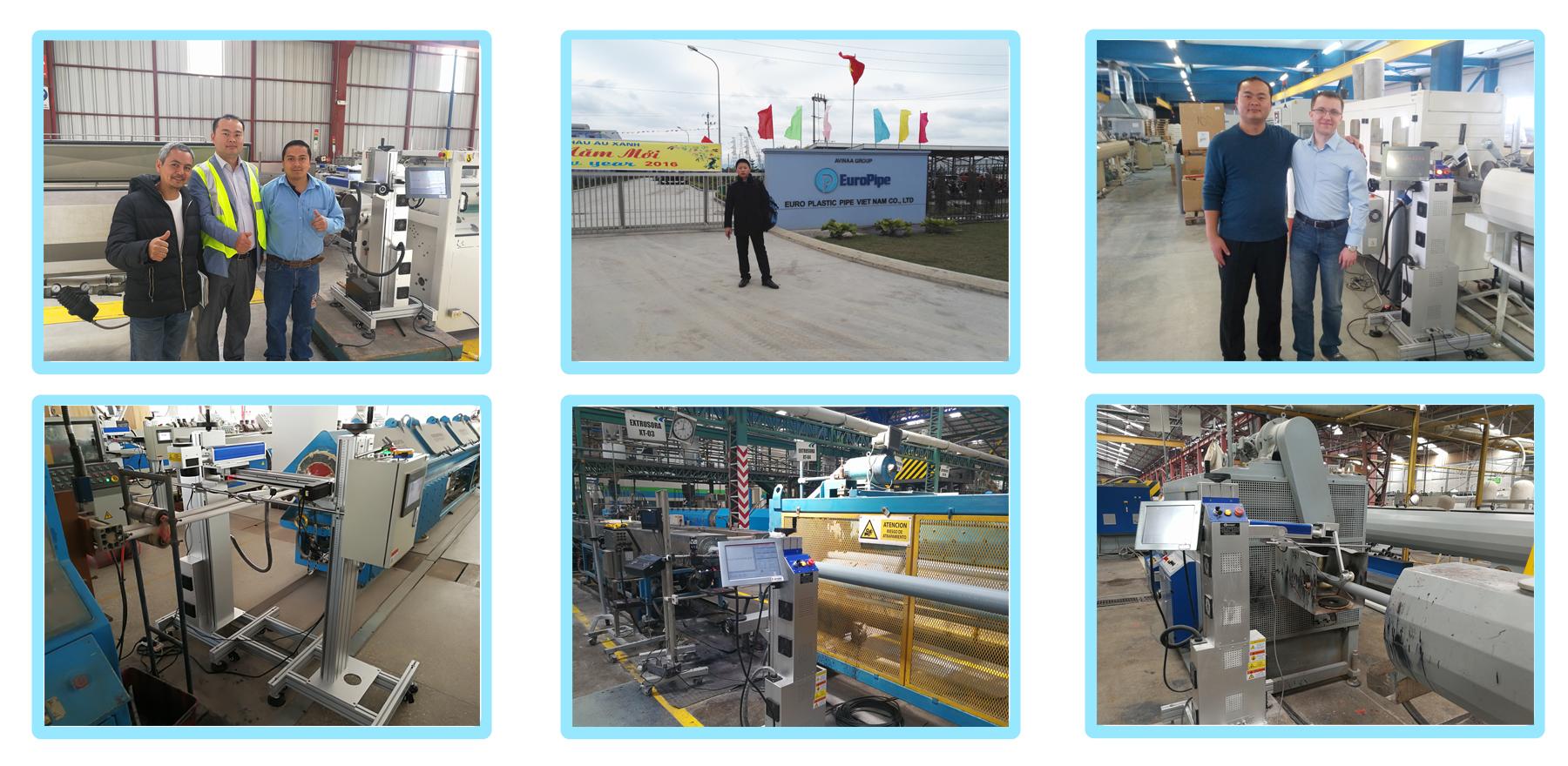 CYCJET Laser Marking Machine at customer factory.jpg